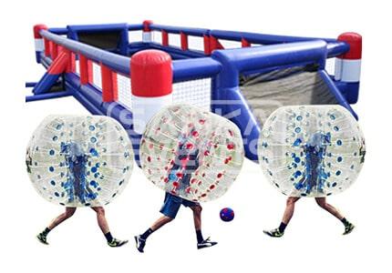 Bubble Voetbal set huren