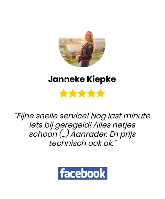 Social review homepage Janneke Kiepke