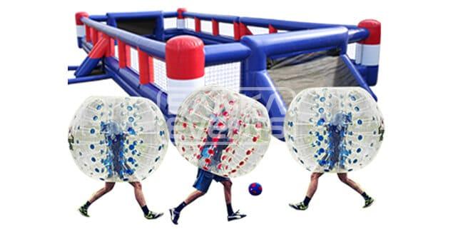 Bubble Voetbal set huren product